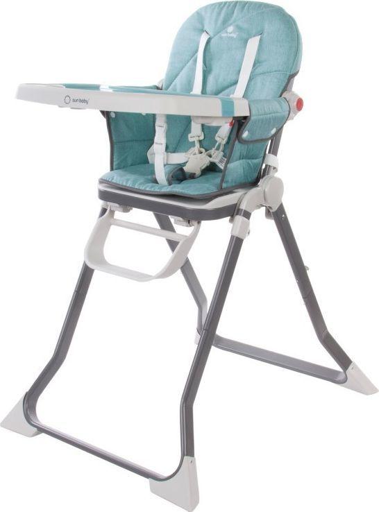 Sun Baby Krzesełko do karmienia Cubby - Turquoise light 1