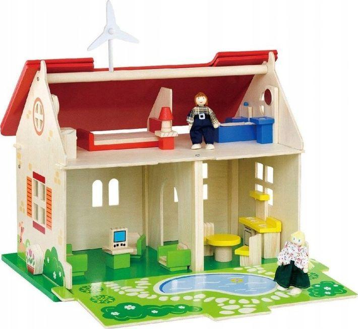 Viga Drewniany domek dla lalek 2 Lalki Mebelki ECO 1
