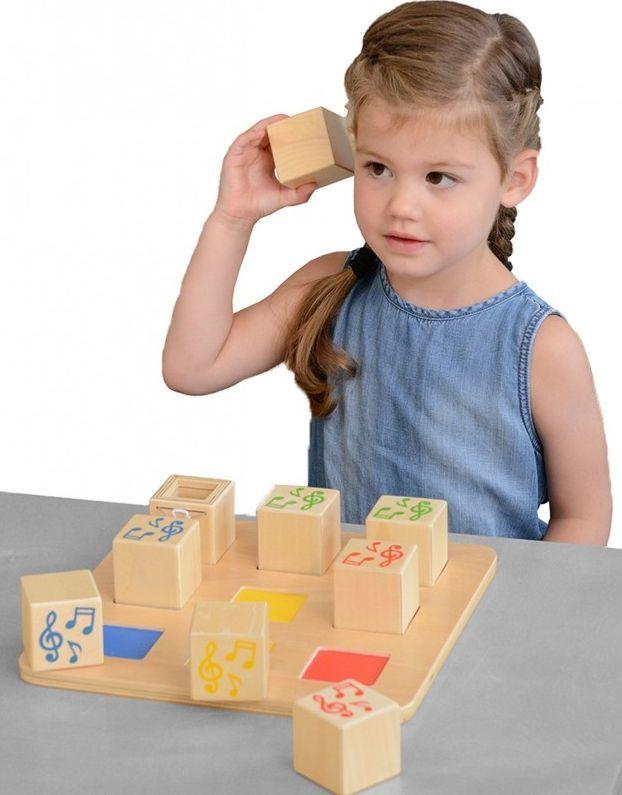 Masterkidz Drewniany Sorter Sensoryczny Łączenie Dźwięków Masterkidz 1