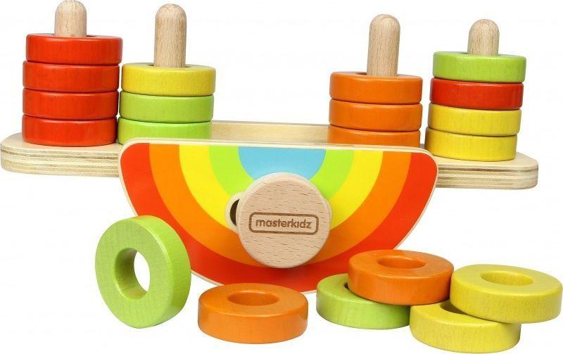 Masterkidz Drewniana Tęcza Do Balansowania Sorter Kolorów Masterkidz 1