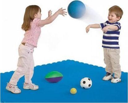 Step2 Mata do zabawy i gier niebieska 4 sztuki 1