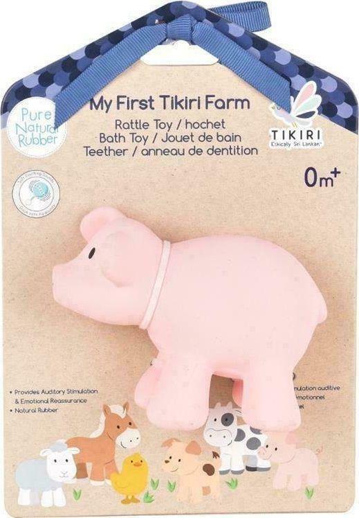 Tikiri Tikiri - Gryzak zabawka Świnka Farma z opakowaniem 1