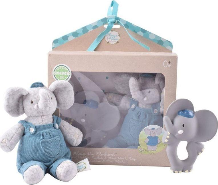 Meiya and Alvin Meiya & Alvin - Alvin Elephant Organic zestaw Babyshower z gryzakiem 1