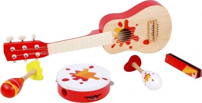 ClassicWorld Zestaw Muzyczny Gitara Tamburyn + Akcesoria Classic World 1