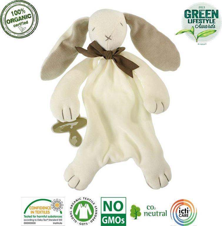 Maud N Lil Maud N Lil Ears The Bunny Comforter Organiczny Mięciutki Pocieszyciel dou dou z łapką na smoczek 1