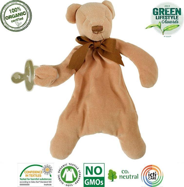 Maud N Lil Maud N Lil Cubby The Teddy Comforter Organiczny Mięciutki Pocieszyciel dou dou z łapką na smoczek 1