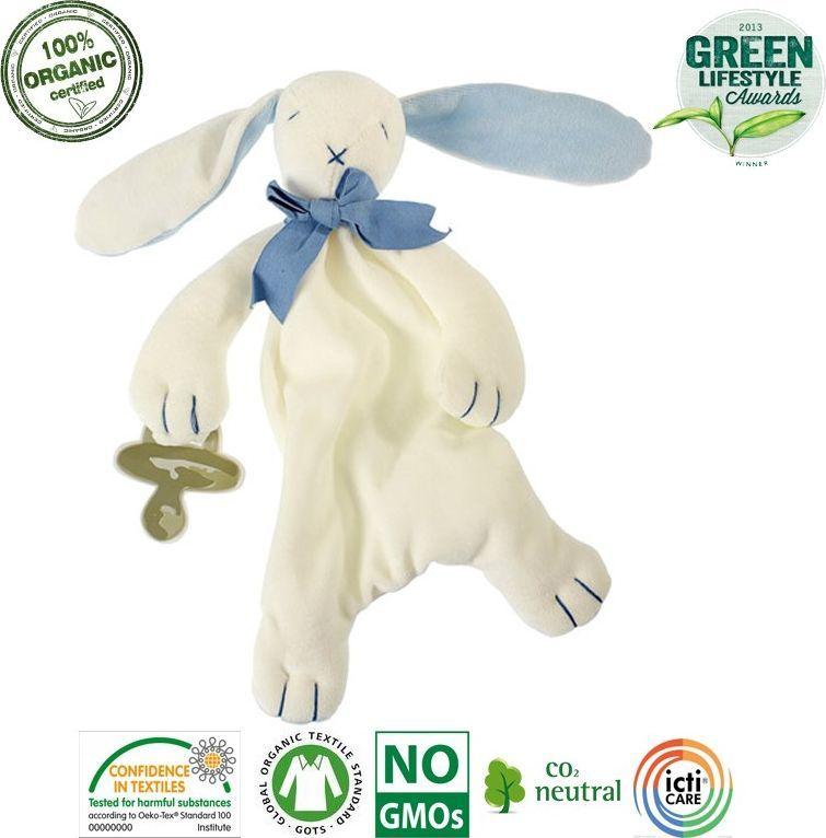 Maud N Lil Maud N Lil Oscar The Bunny Comforter Organiczny Mięciutki Pocieszyciel dou dou z łapką na smoczek 1