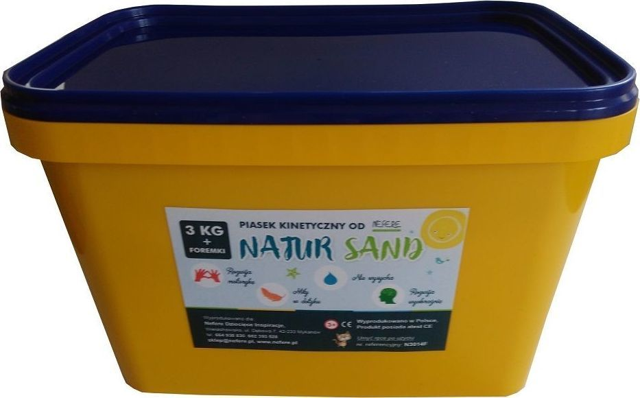 Nefere Piasek kinetyczny 3 kg NaturSand z foremkami plaża 1