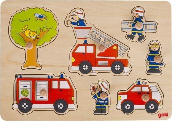 Goki Układanka z uchwytami dzielny strażak 1