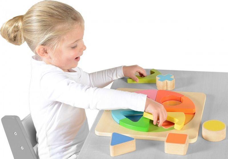 Masterkidz Kolorowa Drewniana Układanka Geometryczna Puzzle Masterkidz 1