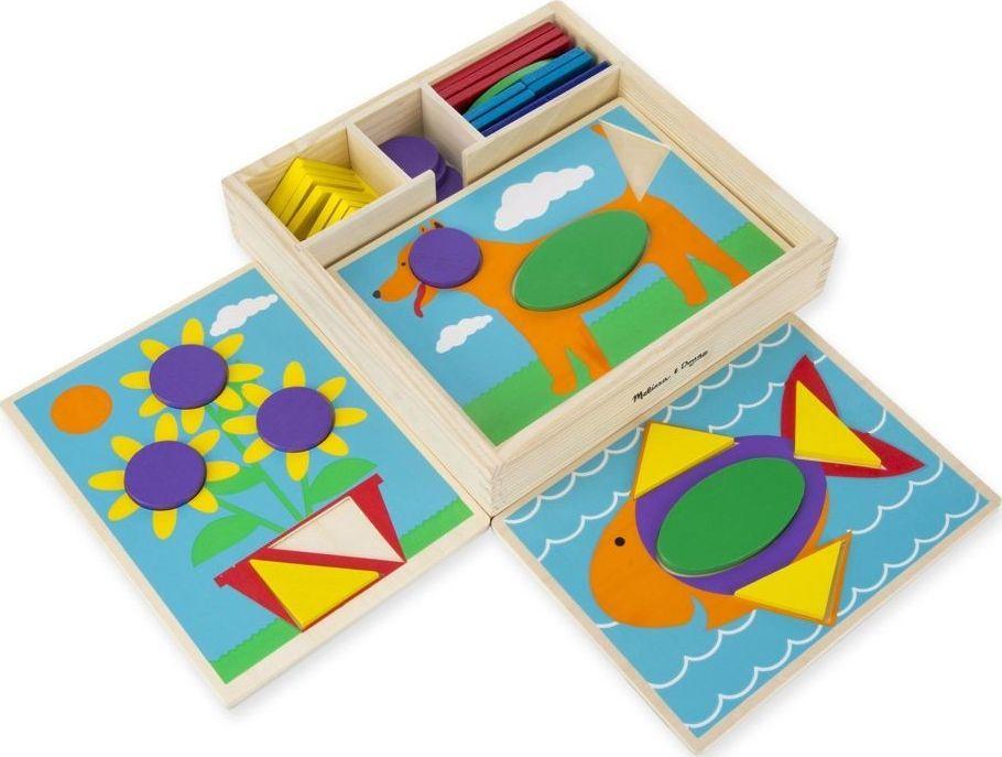 Melissa & Doug Drewniana układanka – Mozaika – kolory i kształty 1