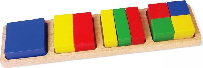 Viga Drewniana Układanka Viga Klocki Matematyczne Ułamki 11 Elementów 1