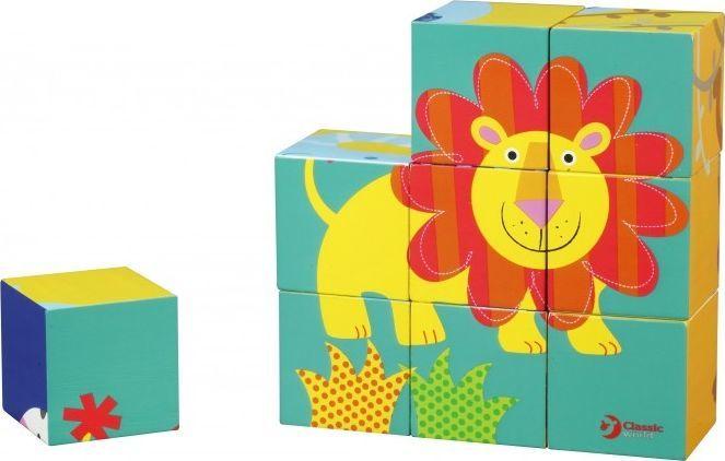 ClassicWorld Puzzle Klocki Drewniane Kwadratowe Dzikie Zwierzęta Classic World 1