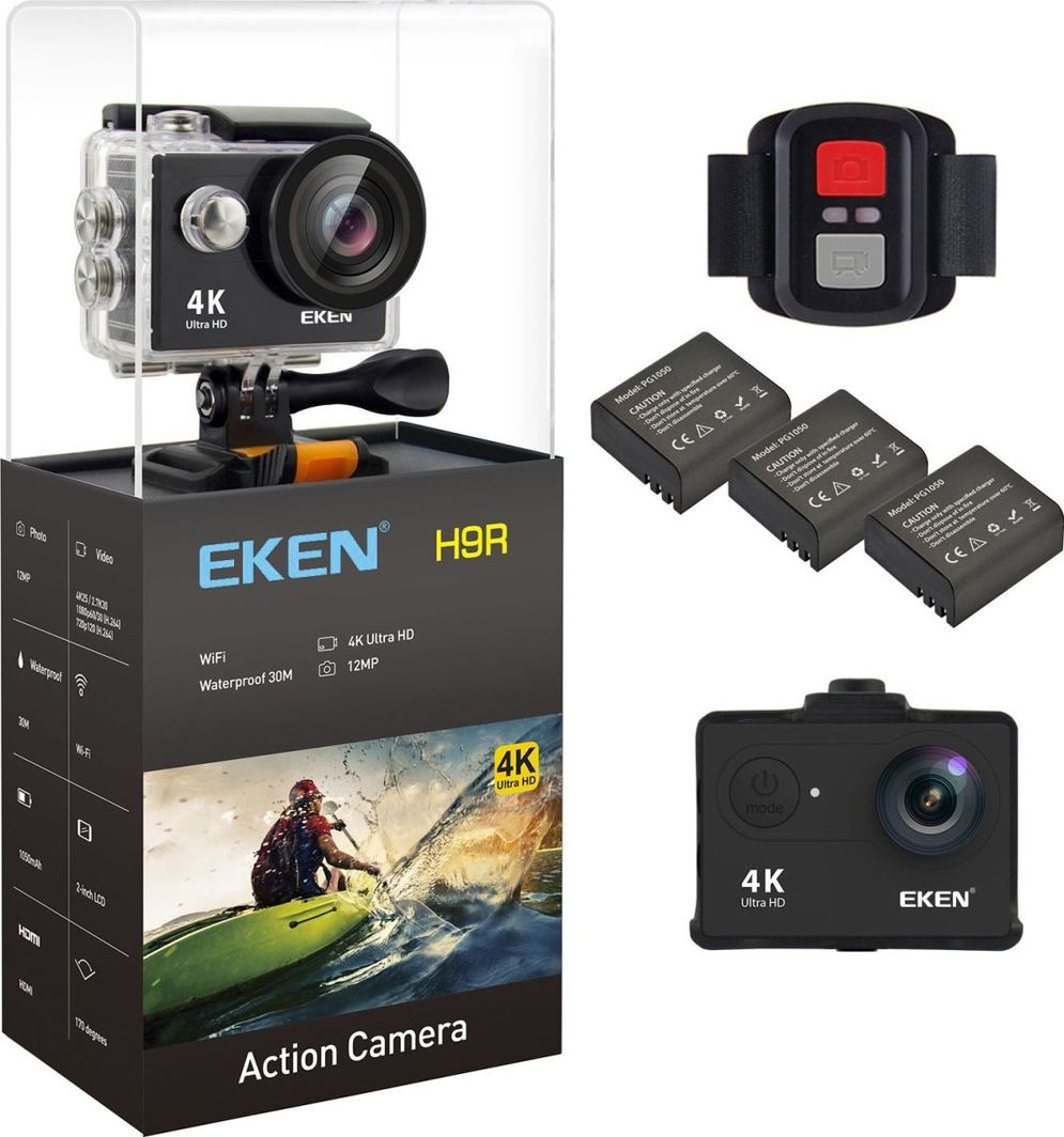 """Kamera EKEN H9R 2"""" 4K czarna 1"""