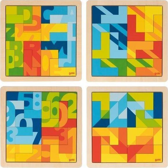 Goki Puzzle wyobraźni - zestaw 4 sztuk 1