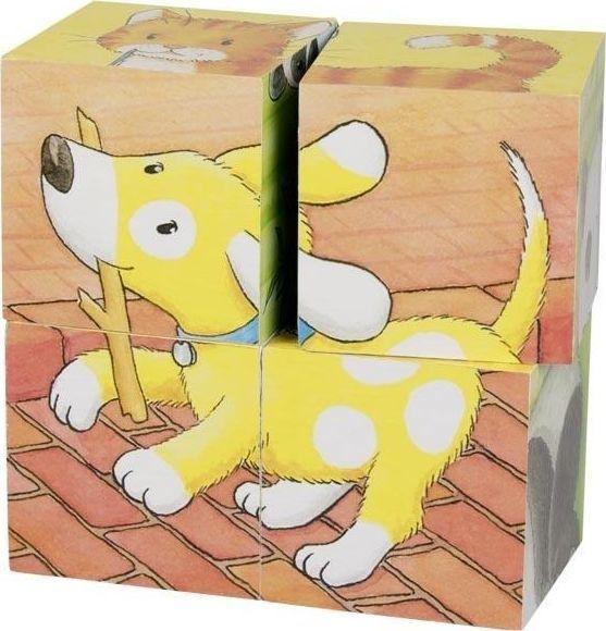 Goki Goki puzzle sześcienne małe zwierzaki 1