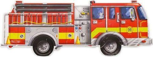 Melissa & Doug Podłogowe puzzle – wóz strażacki – ogromne elementy 1