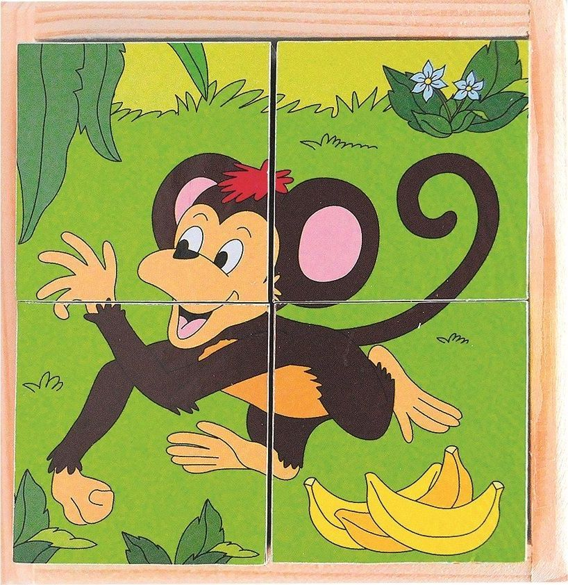 Woody Puzzle sześcienne kostki Zoo 1