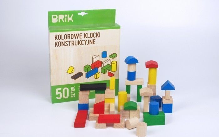 Brik Klocki konstrukcyjne Brik 50 sztuk kolorowe 1