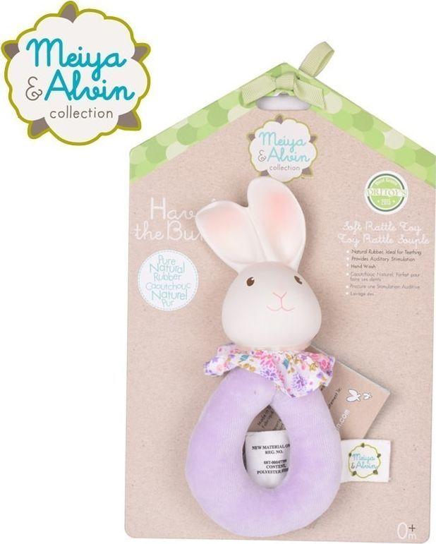 Meiya and Alvin Meiya & Alvin - Havah Bunny Soft Rattle with Organic Teether Head 1
