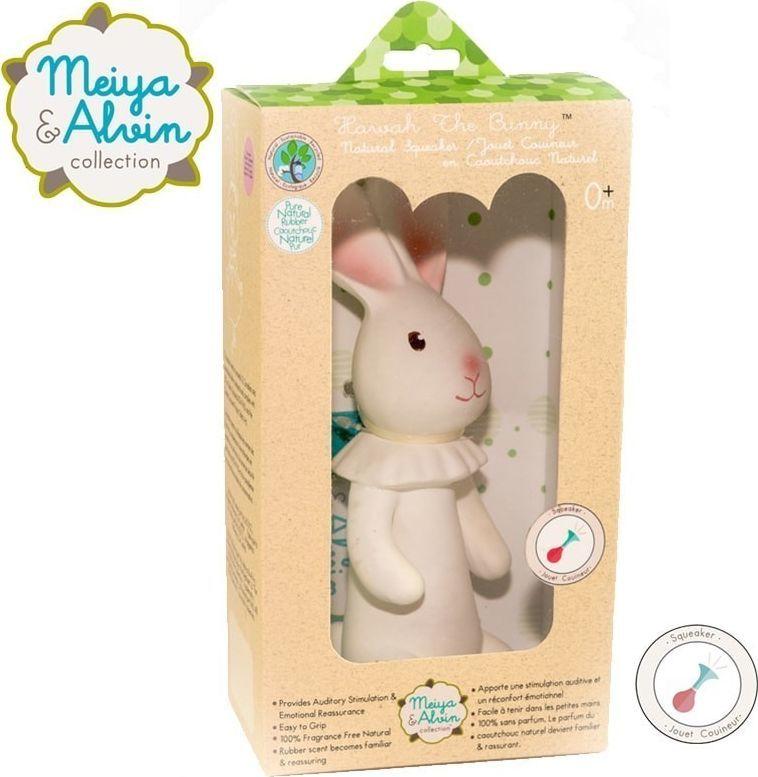 Meiya and Alvin Meiya & Alvin - Havah Bunny Organic Rubber Squeaker 1