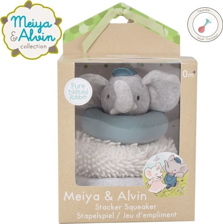 Meiya and Alvin Elephant Stacker with Squicker and Teethers 1