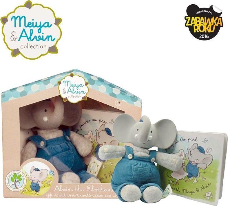 Meiya and Alvin Meiya & Alvin - Alvin Elephant Mini Deluxe Teether Gift Set with Book 1