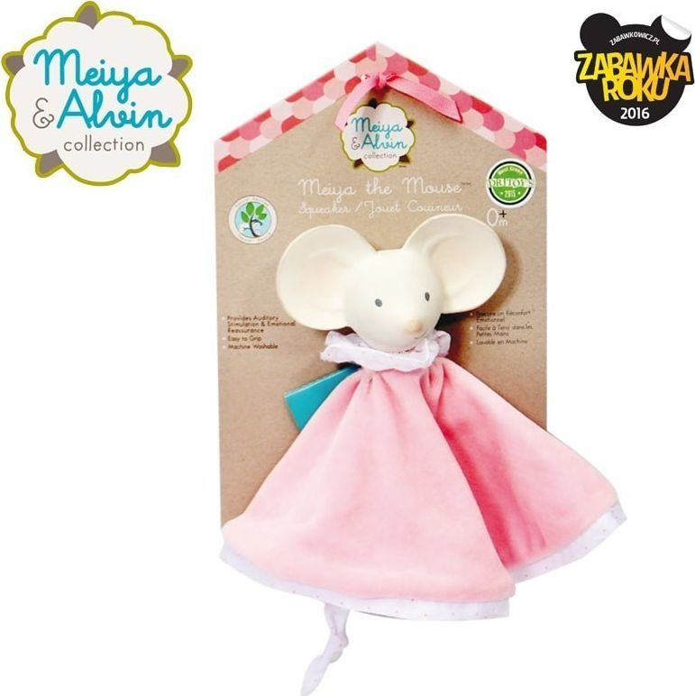 Meiya and Alvin Meiya & Alvin - Meiya Mouse Snuggly Comforter with Organic Teether Head 1