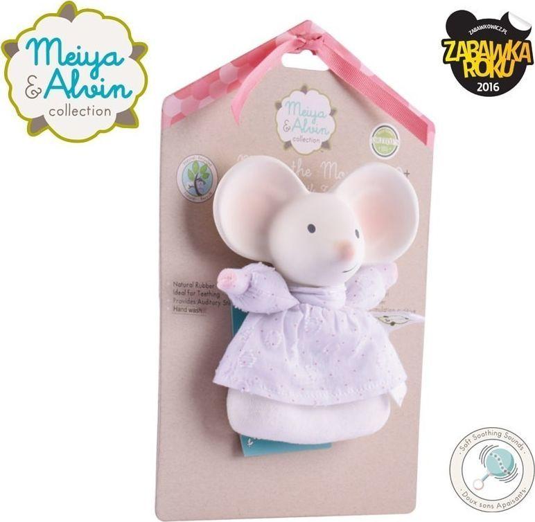 Meiya and Alvin Meiya & Alvin - Meiya Mouse Soft Rattle with Organic Teether Head 1