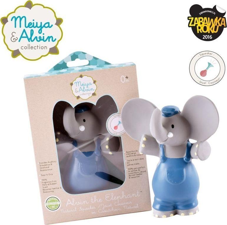 Meiya and Alvin Meiya & Alvin - Alvin Elephant Organic Rubber Squeaker 1