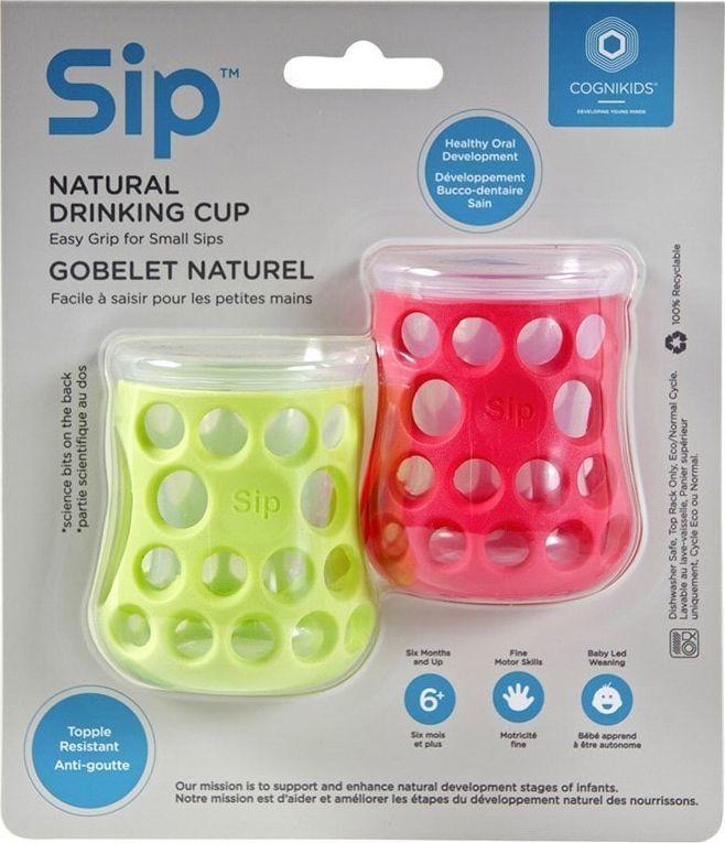 CogniKids Kubek Sip® Natural Drinking Cup 2x50ml Apple/Rose 1