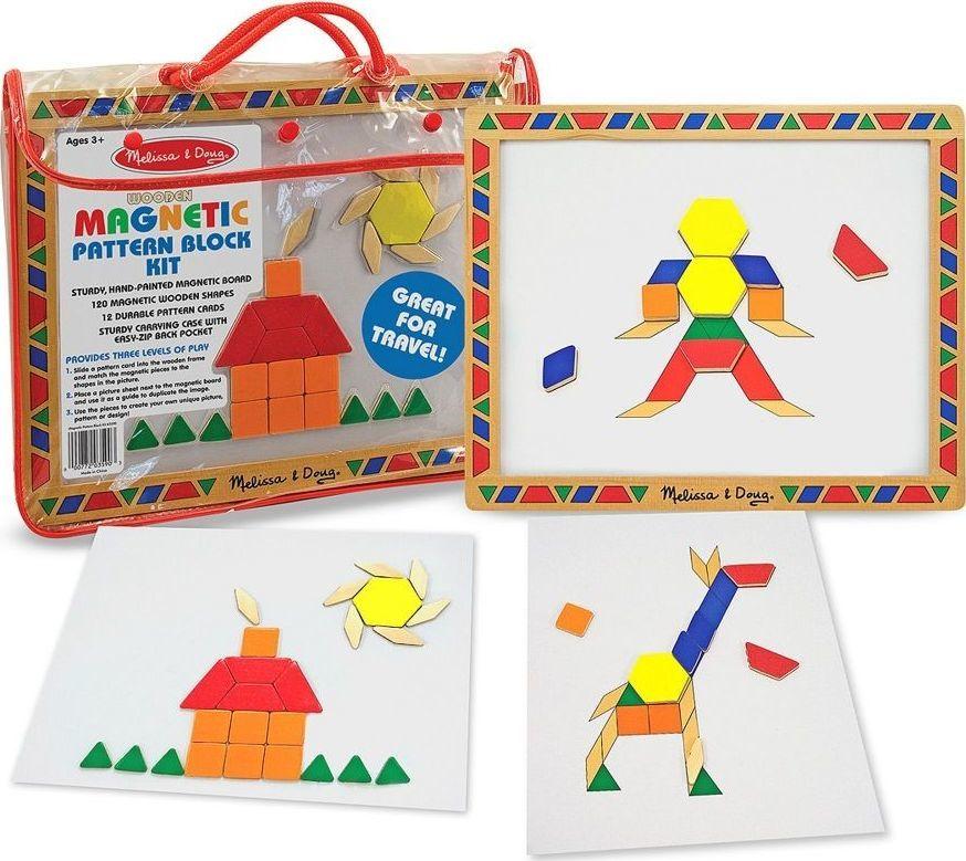 Melissa & Doug Magnetyczna tablica z magnesami do nauki kształtów 1