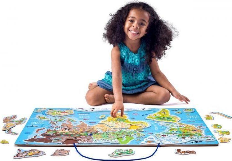 Woody Mapa świata tablica edukacyjna 2w1 1