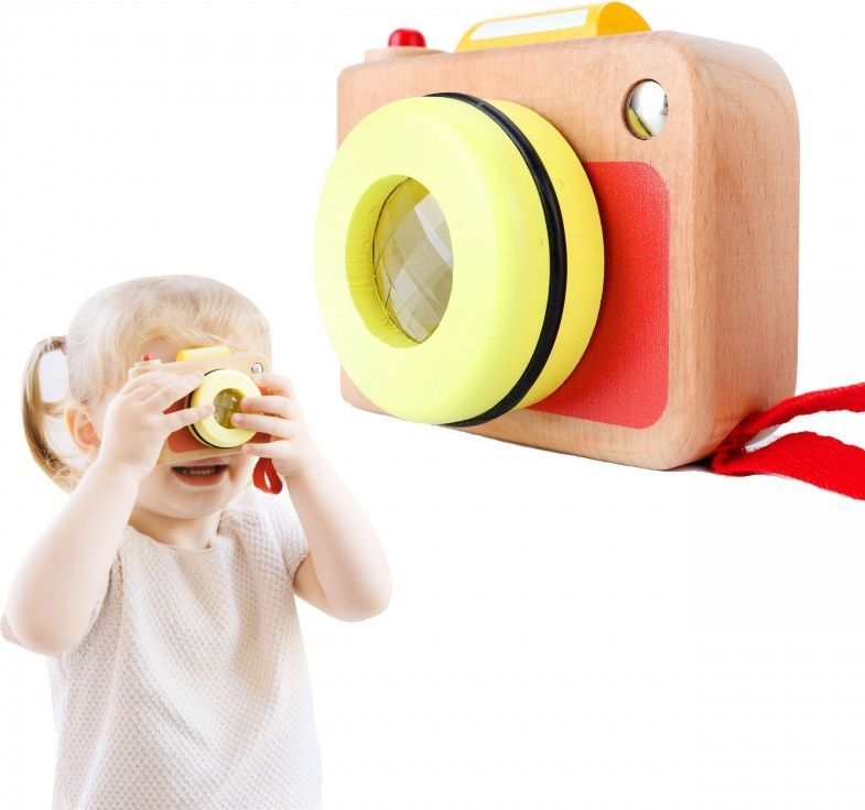 ClassicWorld Aparat Fotograficzny dla Dzieci Classic World Drewniana Zabawka z Soczewką 1