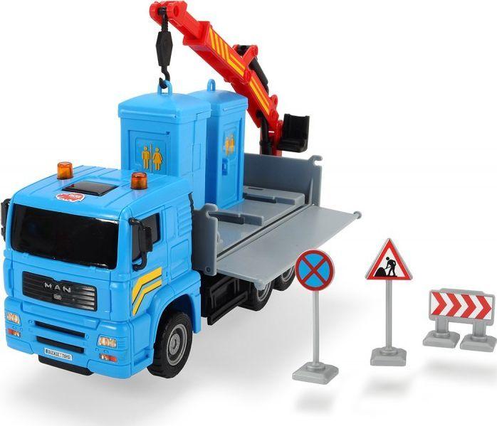 Dickie DICKIE CITY Pojazd Heavy City Ciężarówka + Toi Toi Dźwig 1
