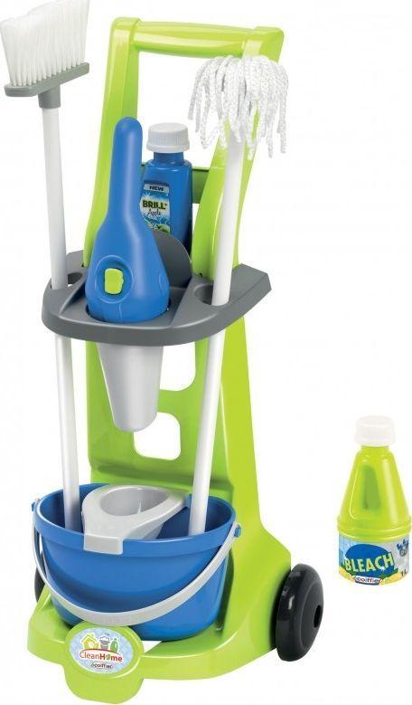 Ecoiffier Wózek sprzątający z akcesoriami Clean Home 8 elementów 1