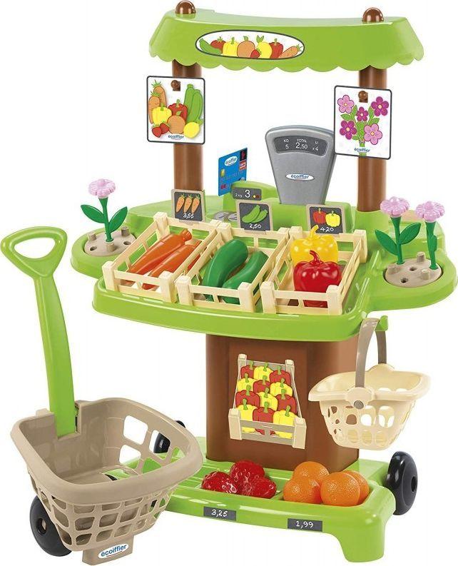 Ecoiffier Ecoiffier Sklep z warzywami i owocami 35 akcesoriów 1