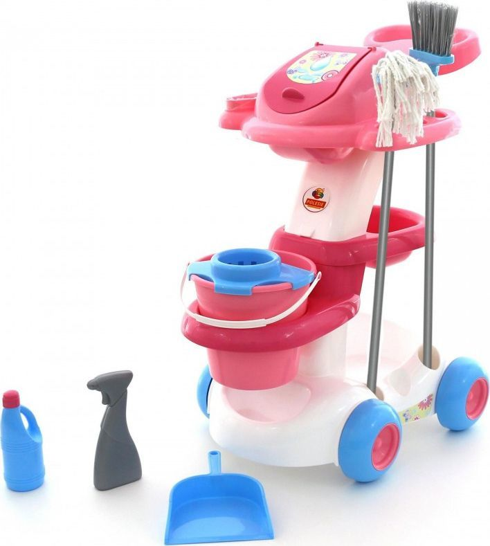Wader Zestaw wózek do sprzątania Wader z mopem i szczotką 1