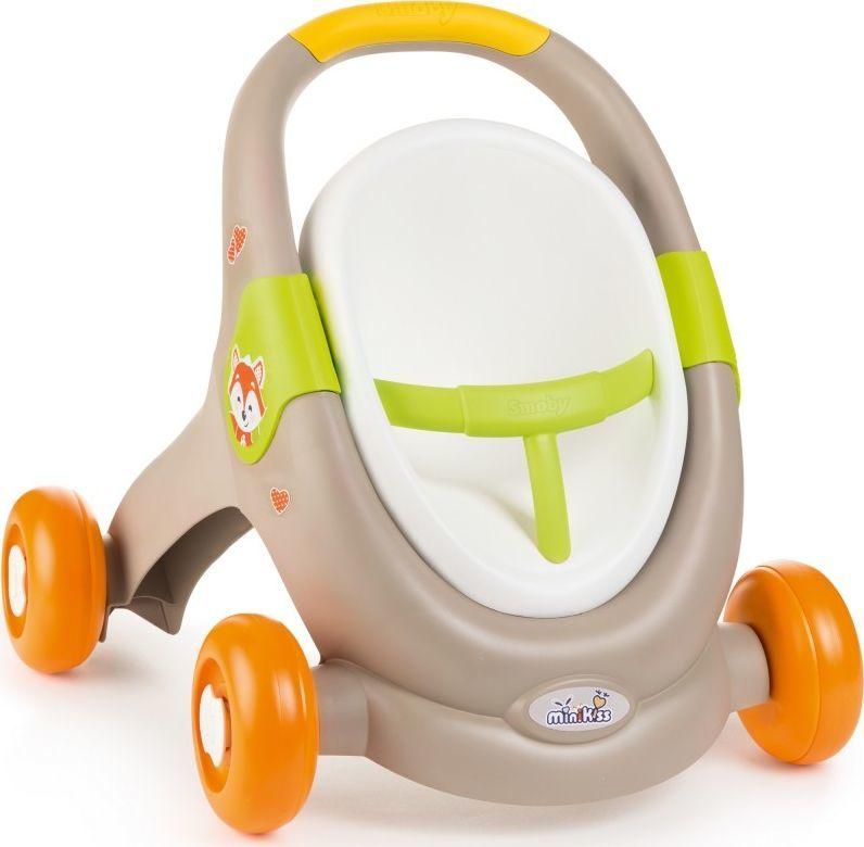 Smoby Smoy MiniKiss 3w1 Chodzik Pchacz Wózek 1