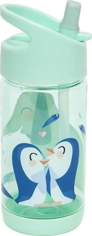 Petit Monkey Kubek ze słomką Słoń i Pingwiny 320ml zielony 1