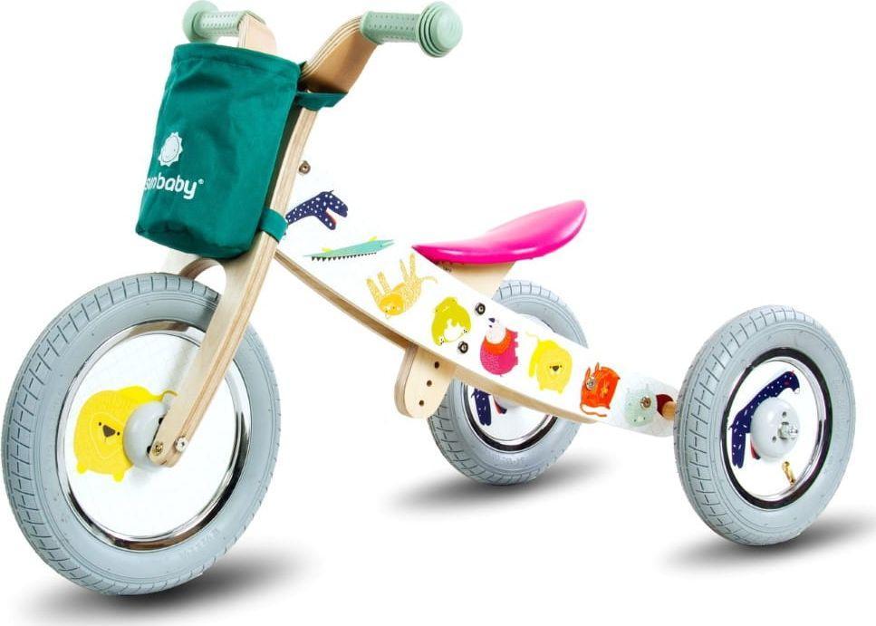 Sun Baby Rowerek biegowy 2w1 Twist Safari by Mamala.leo Black 1