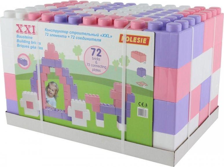 Wader Klocki XXL 72 elementy + 72 łączniki 1