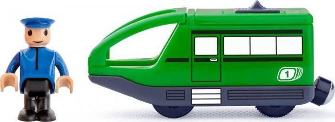 Woody Pociąg na baterie z maszynistą - zielony 1