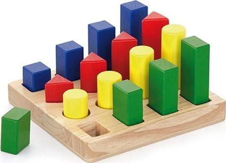 Viga Klocki Drewniane Nauka Kształtów Kolorów Viga 1