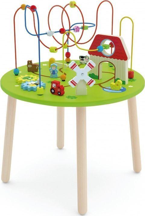 Viga Drewniany Duzy stolik edukacyjny Farma Rollercoaster Toys 1