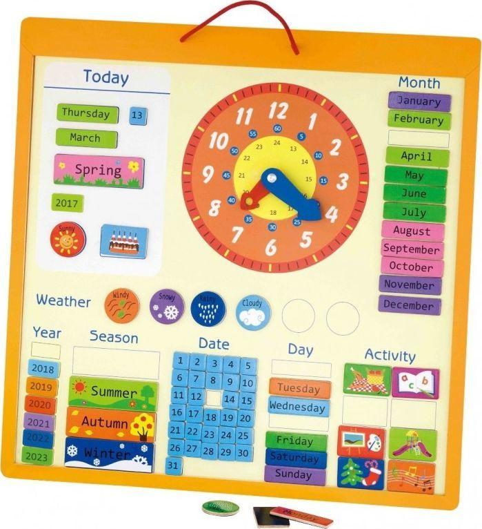 Viga Viga Magnetyczny kalendarz edukacyjny 75 elementów 1