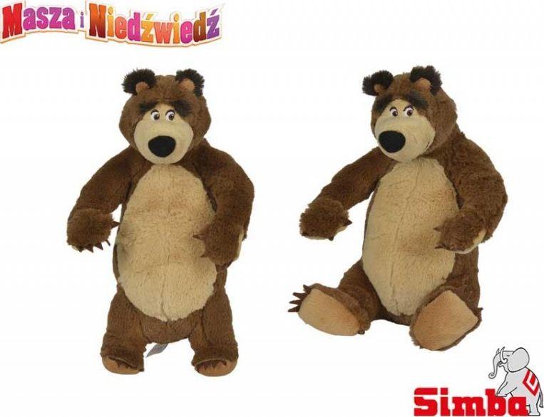 Simba SIMBA Masza i Niedźwiedź MIŚ PLUSZOWY Stojący 25 CM 1