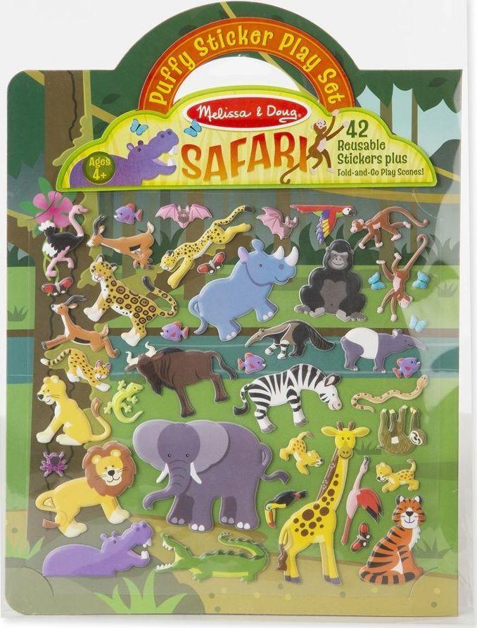 Melissa & Doug Naklejki wypukłe wielorazowe – Safari 1