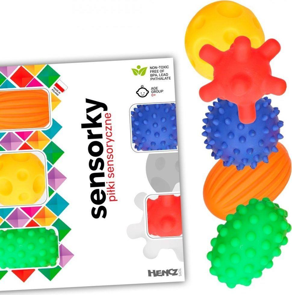 MomsCare Piłeczki sensoryczne 5 sztuk w pudełku 1