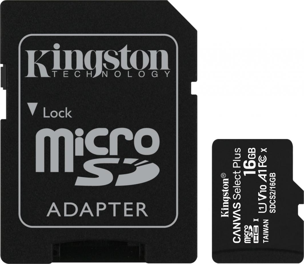 Karta Kingston Canvas Select Plus MicroSDHC 16 GB Class 10 UHS-I/U1 A1 V10 (SDCS2/16GB) 1